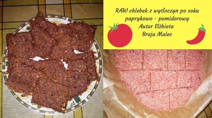 RAW chlebek z wytłoczyn po sokupaprykowo - pomidorowyAutor Elżbieta Braja Malec.jpg
