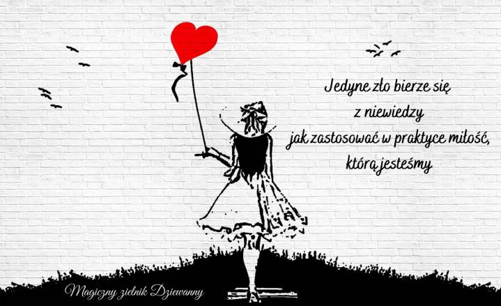Jedyne zło bierze się z niewiedzy jak zastosować w praktyce miłość, którą jesteśmy
